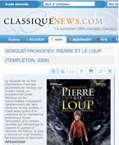 classique news peter and the wolf review