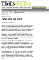 the times review of peter and the wolf